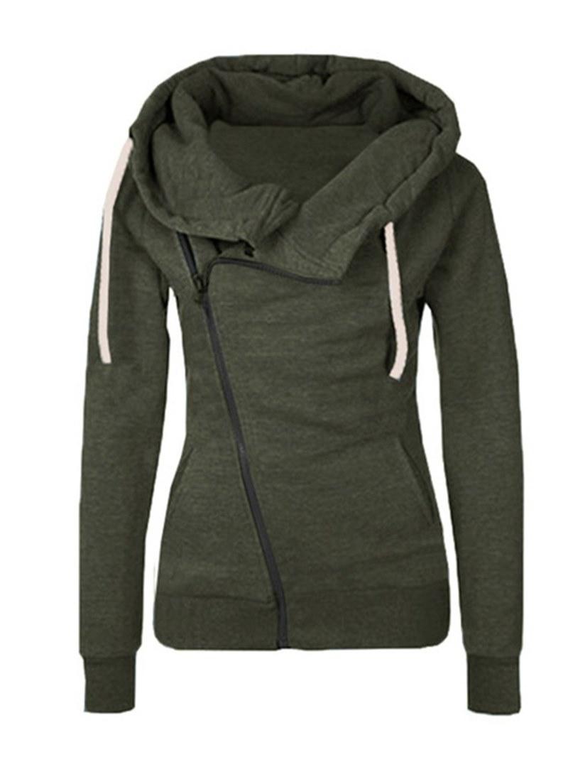 Ericdress Zipper Casual Long Sleeves Cool Hoodie