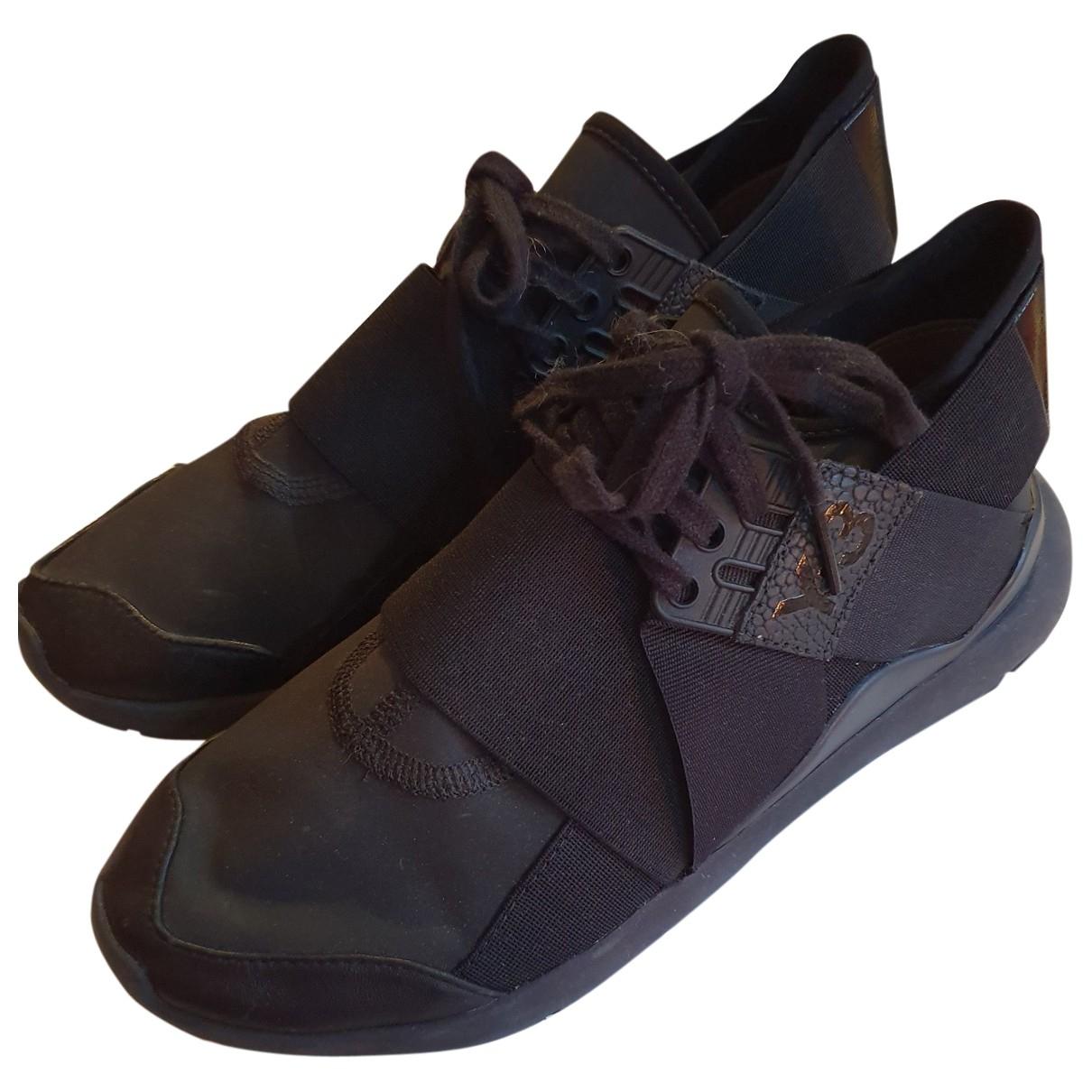 Y-3 - Baskets   pour femme en caoutchouc - noir