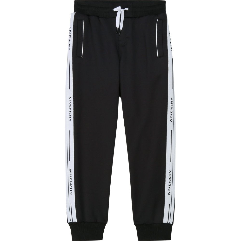 Givenchy Logo Joggers Colour: BLACK, Size: 4 YEARS