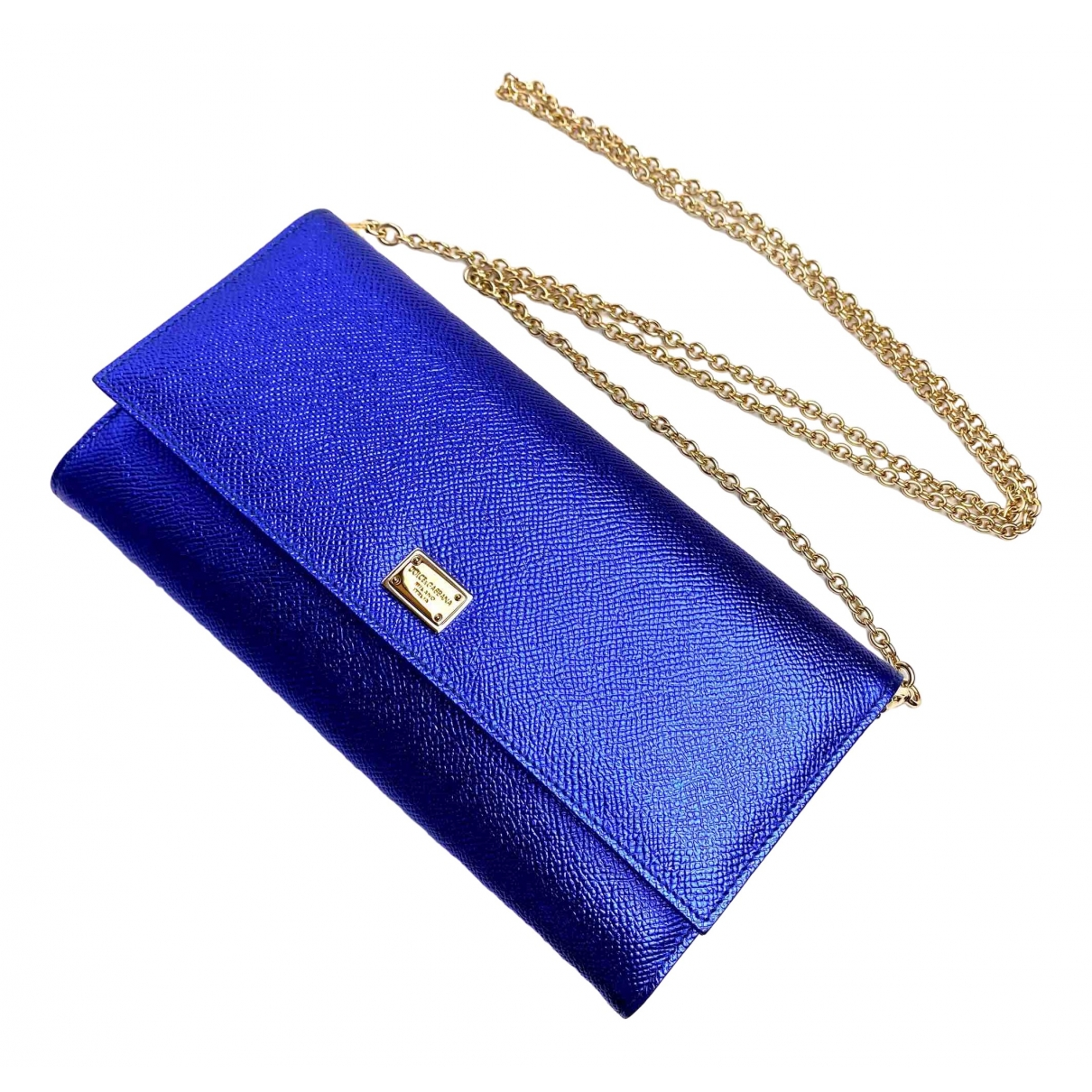 Dolce & Gabbana \N Blue Leather handbag for Women \N