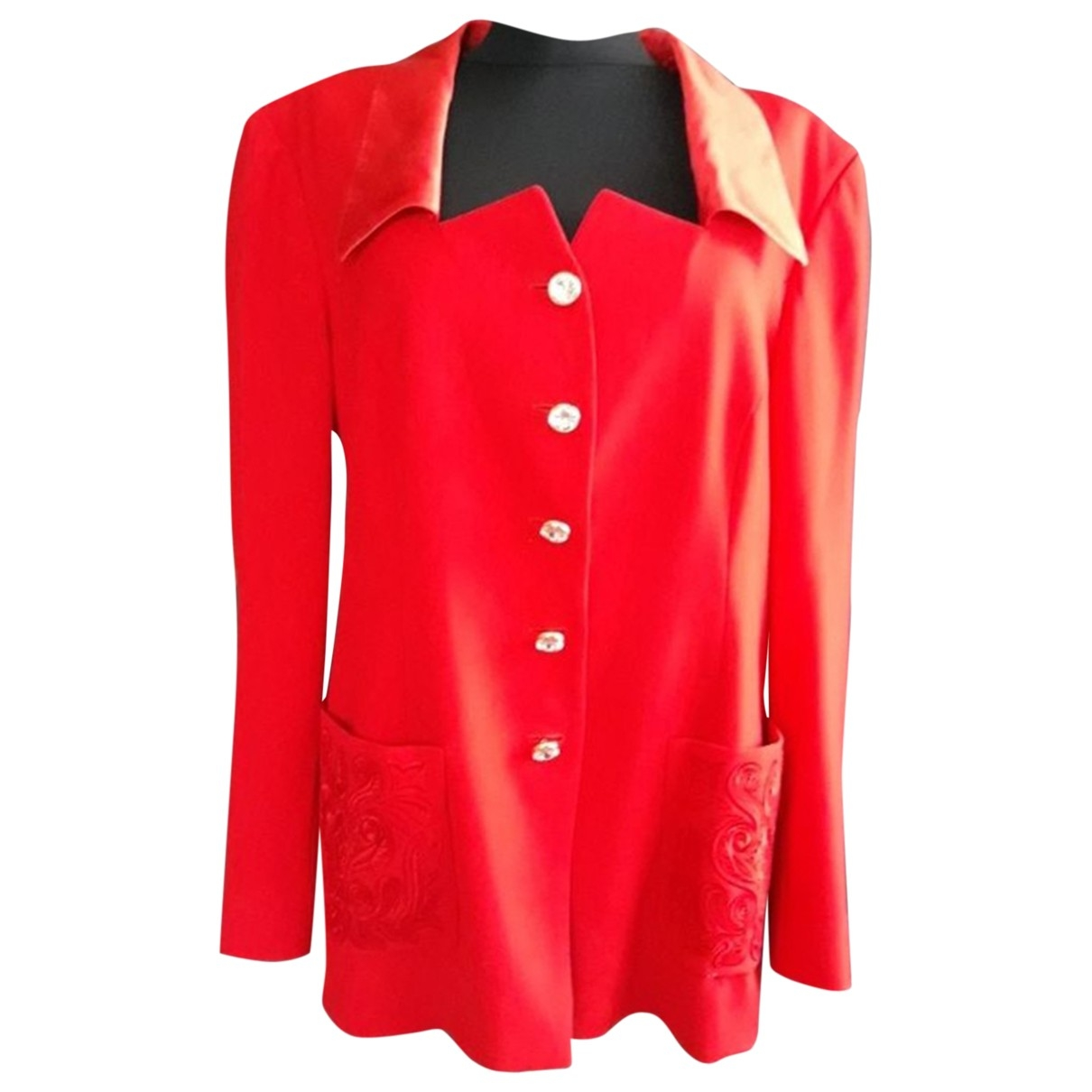 Escada \N Red Wool jacket for Women 44 IT