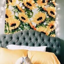 Tapisserie mit Sonnenblumen Muster