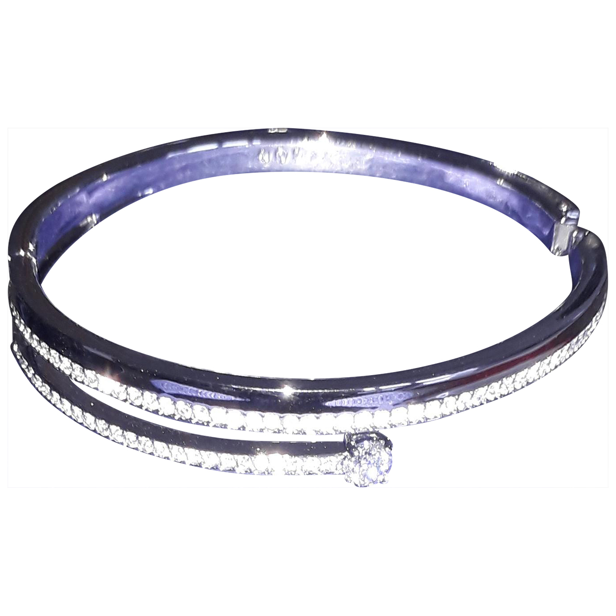 Swarovski \N Armband in  Weiss Metall