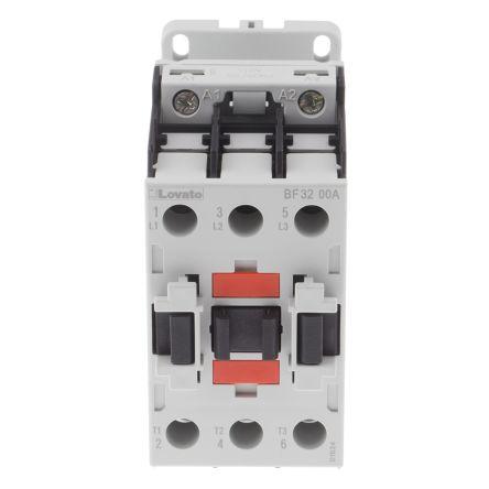Lovato 3 Pole Contactor - 32 A, 110 V ac Coil, Orange, 3NO, 15 kW