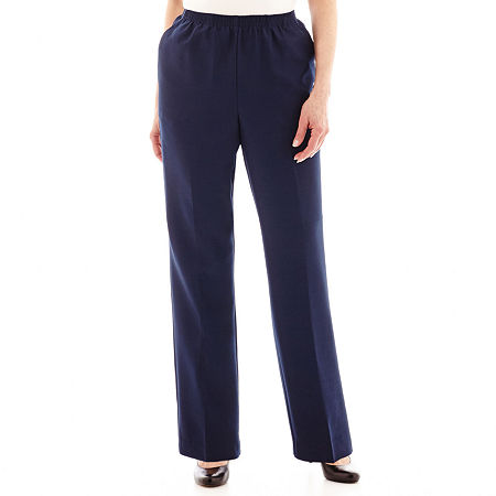 Alfred Dunner Pull-On Pants, 18 Petite Short , Blue
