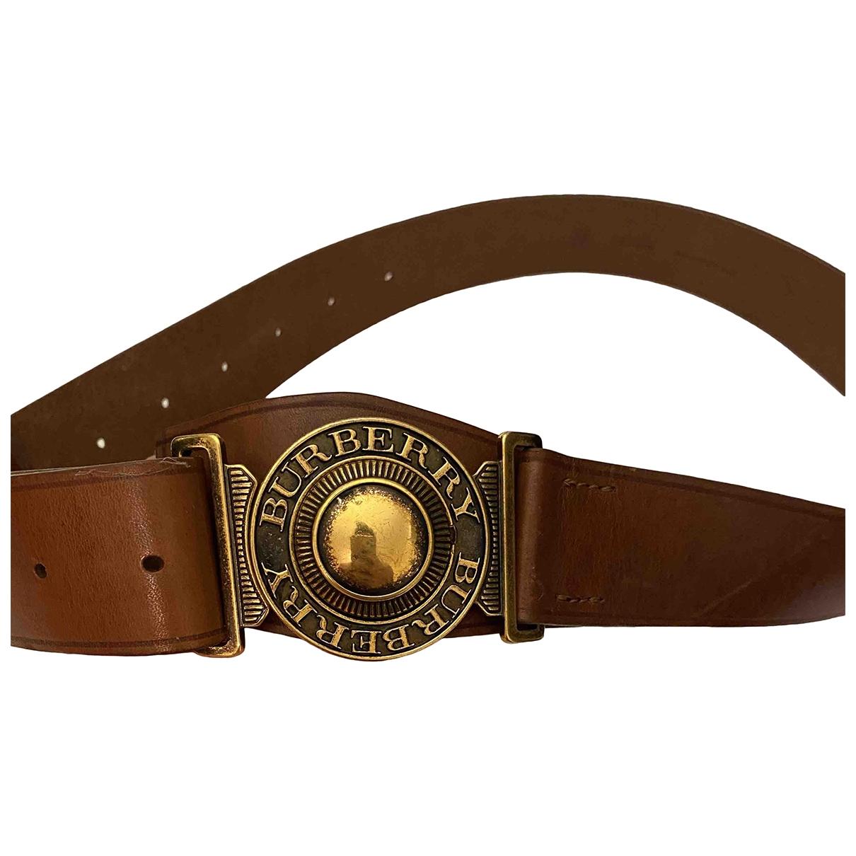 Burberry \N Brown Leather belt for Women M International