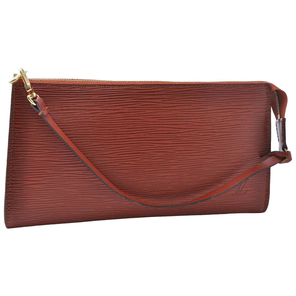 Louis Vuitton N Brown Leather Clutch bag for Women N
