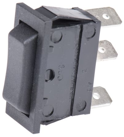 Arcolectric Single Pole Double Throw (SPDT), (On)-Off-(On) Rocker Switch Panel Mount