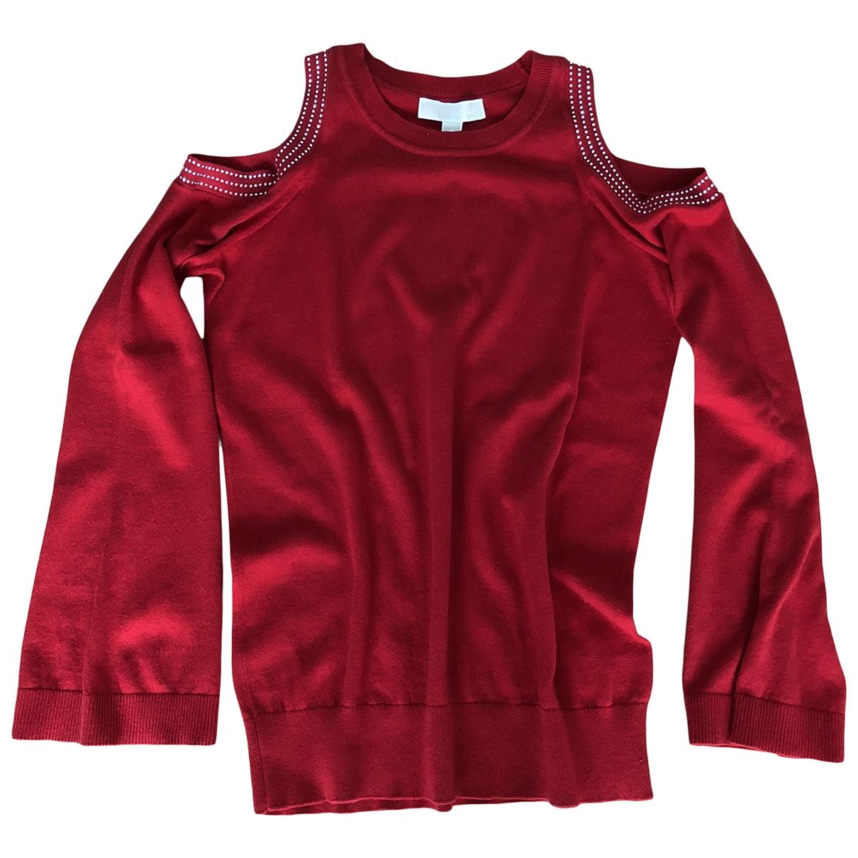 Michael Kors \N Pullover in  Rot Baumwolle