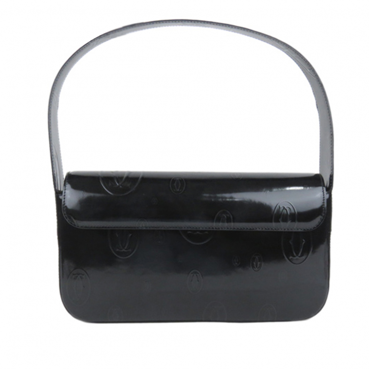 Cartier \N Handtasche in  Schwarz Leder