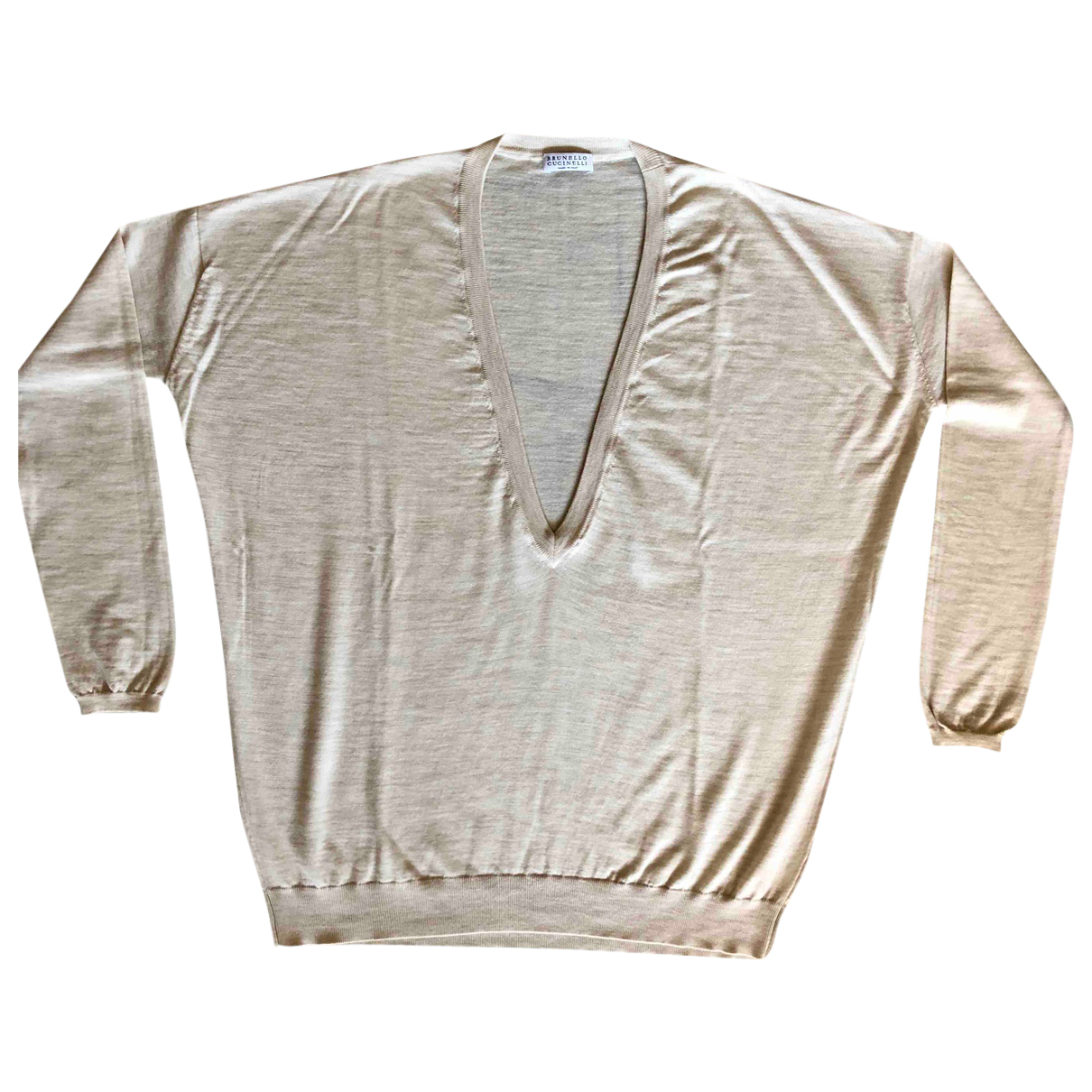 Brunello Cucinelli - Pull   pour femme en laine - beige