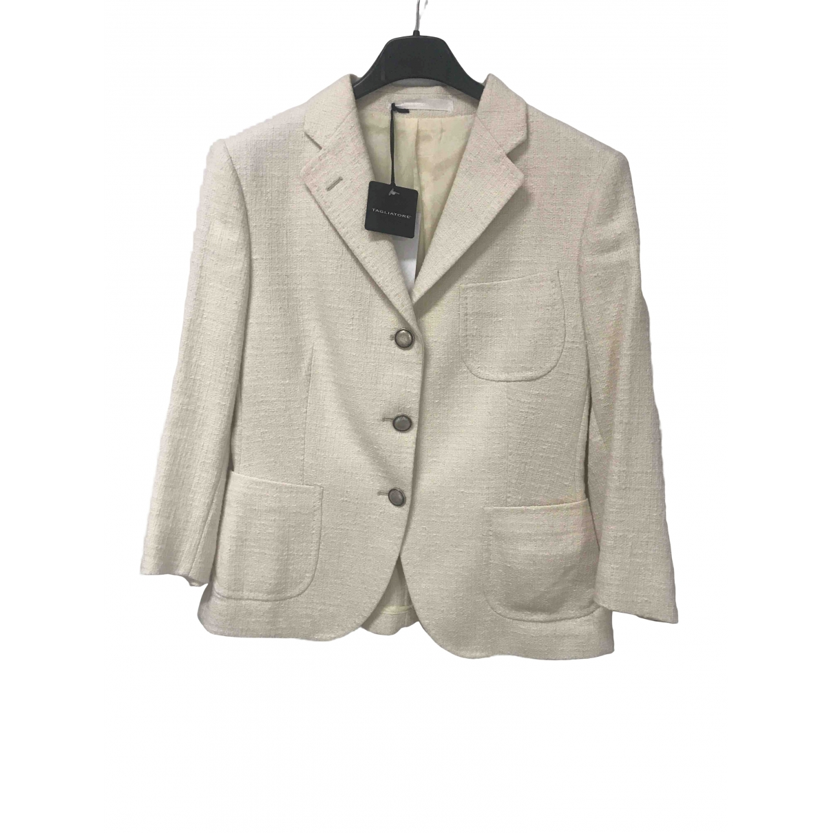 Tagliatore \N Beige Cotton jacket for Women S International