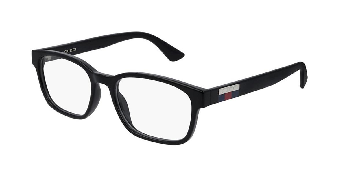 Gucci GG0749O 001 Men's Glasses Black Size 53 - Free Lenses - HSA/FSA Insurance - Blue Light Block Available