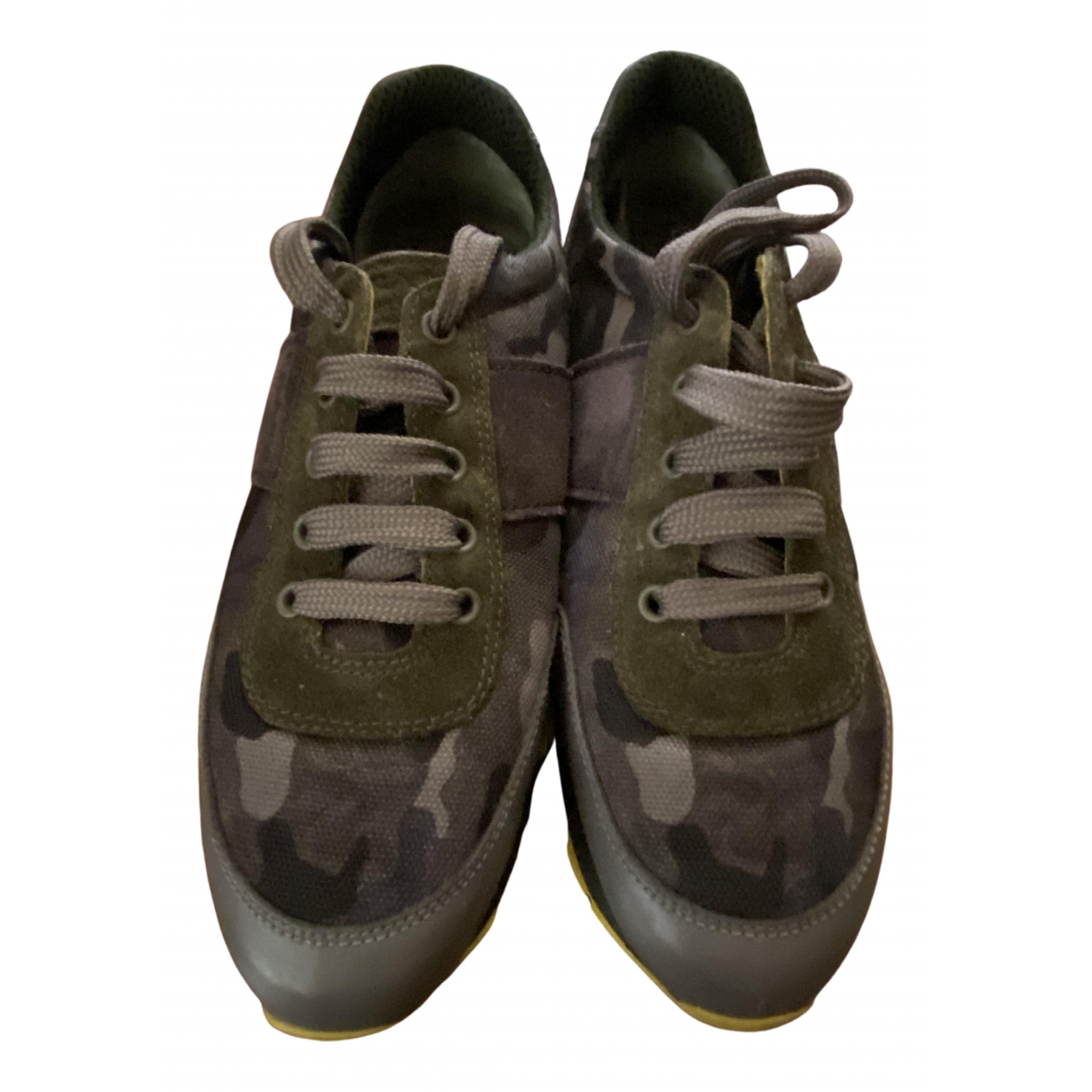 Prada \N Sneakers in  Khaki Veloursleder