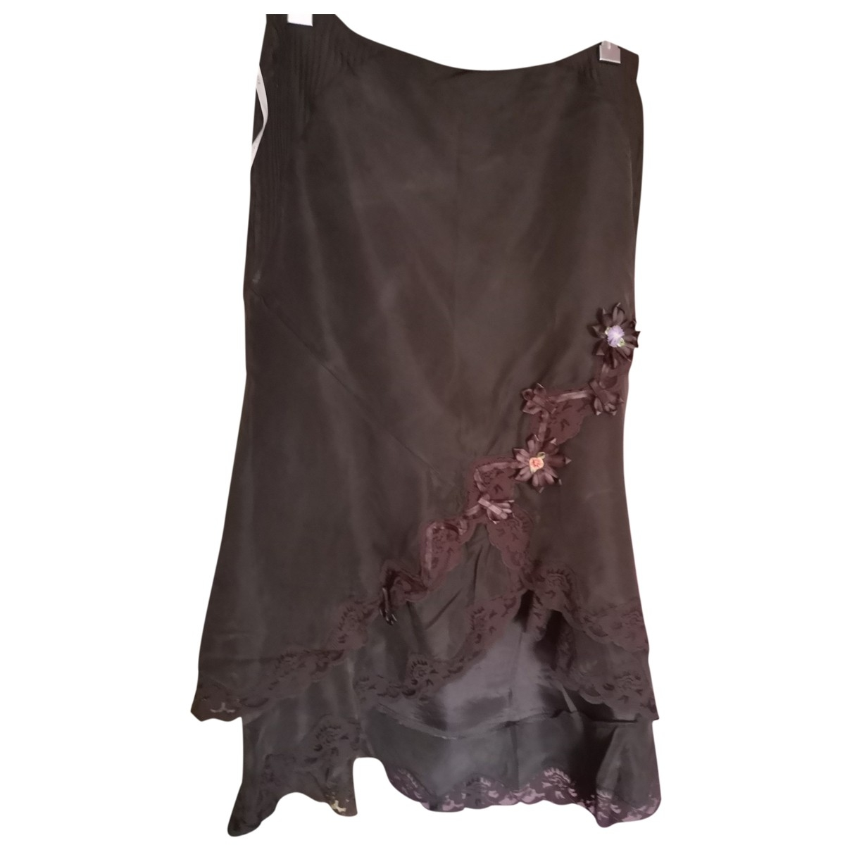 Karen Millen - Jupe   pour femme en soie - marron