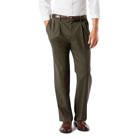 Dockers Men's Classic Fit Easy Khaki Pants - Pleated D3, 38 29, Green