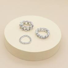 3pcs Chain Design Ring