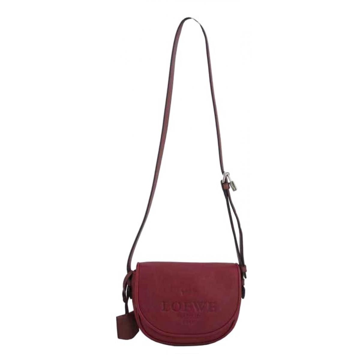 Loewe \N Burgundy Leather handbag for Women \N