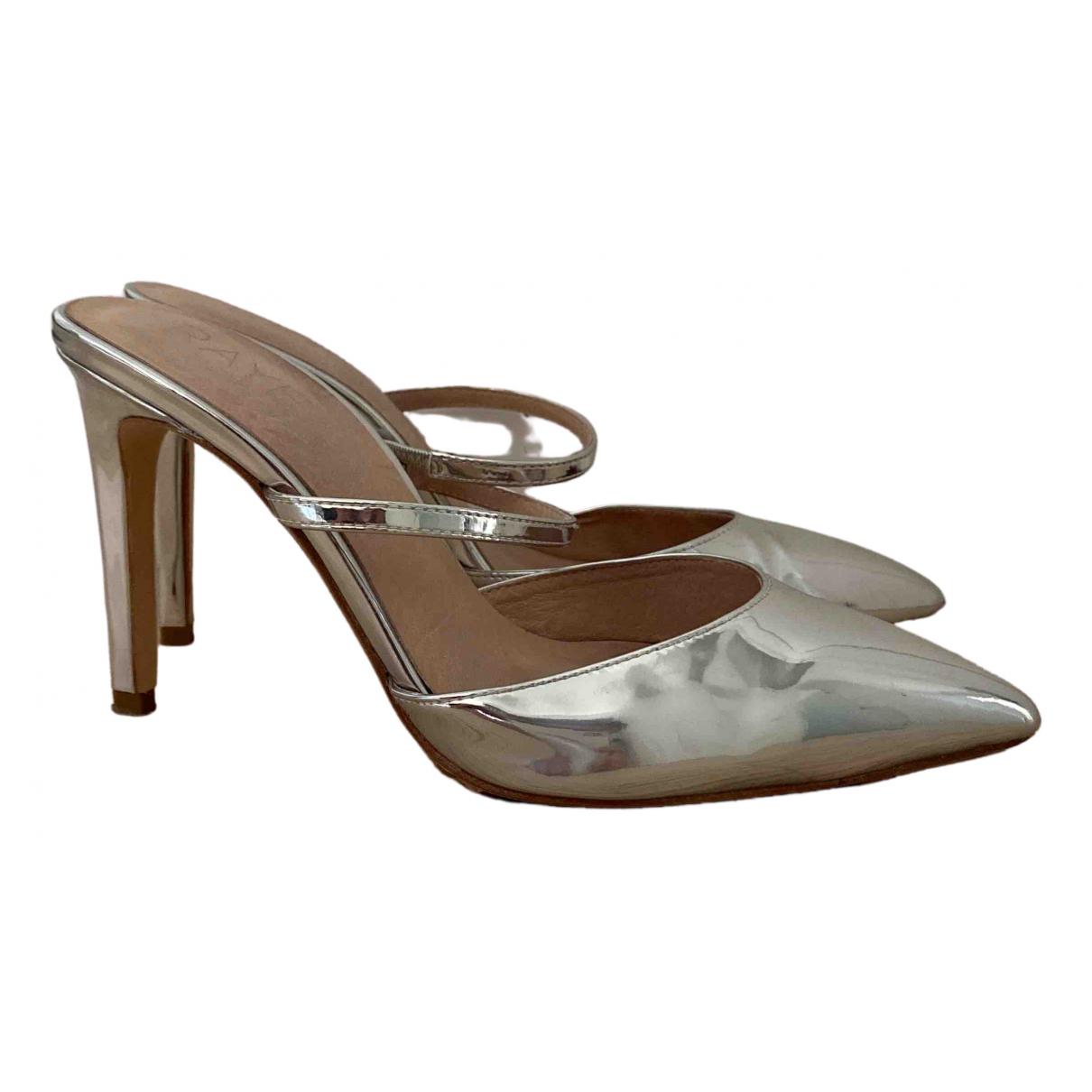 Rye \N Sandalen in  Silber Leder