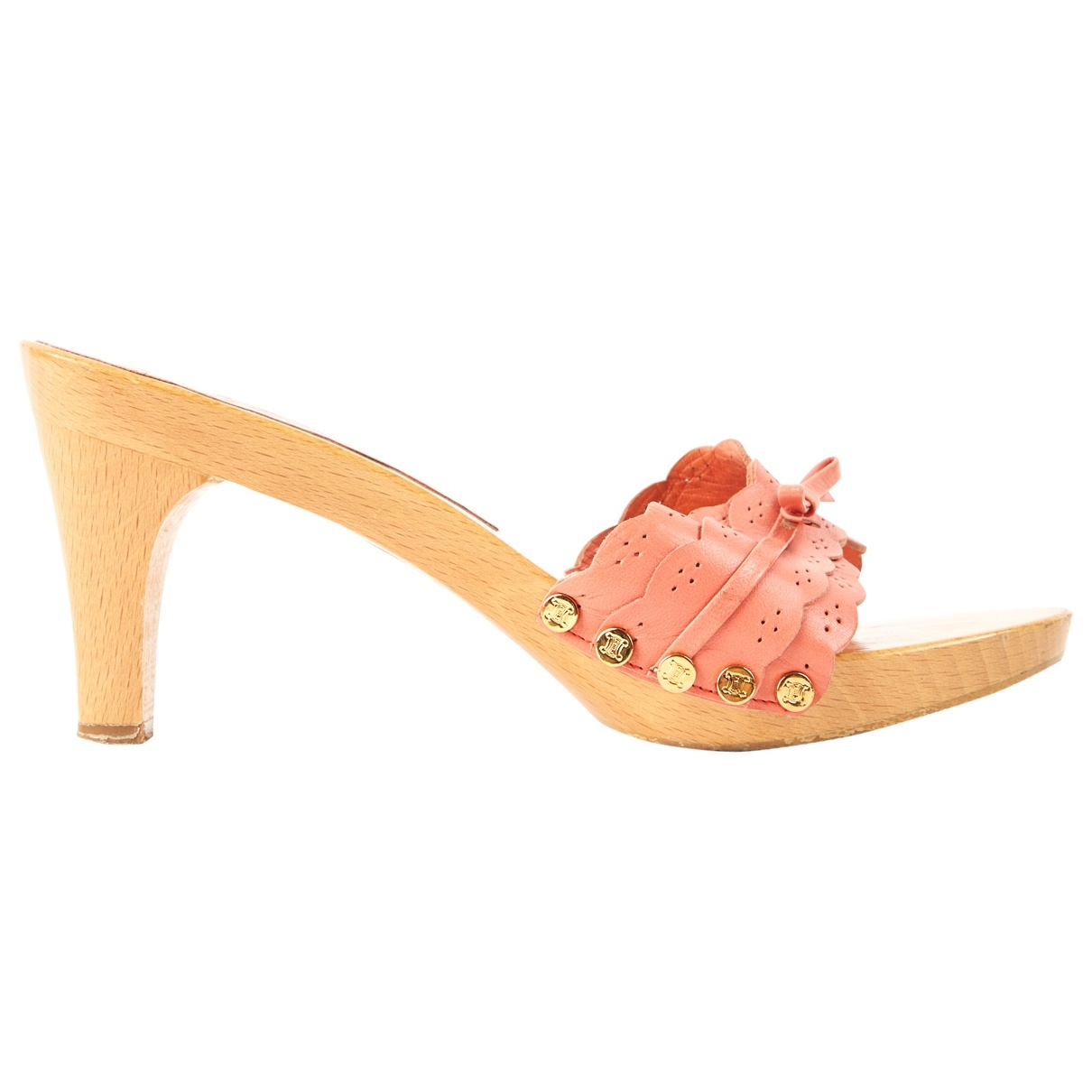 Celine - Sandales   pour femme en cuir - beige