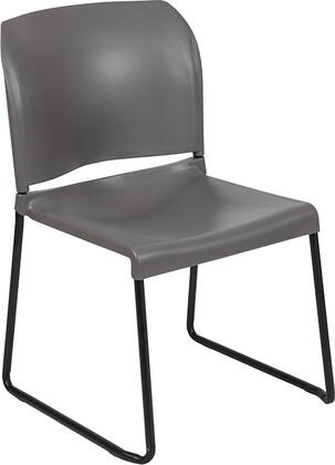Hercules Collection RUT-238A-GY-GG Multipurpose Stack Chair with Ergonomically Contoured Design  Gray Powder Coated Sled Base Frame and Polypropylene
