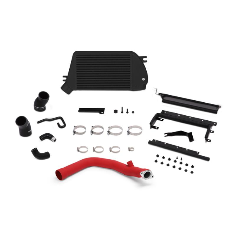 Mishimoto MMTMIC-WRX-15RBK Top-Mount Intercooler Kit (Powder Coated Black & Wrinkle Red Pipes) Subaru WRX 2015+