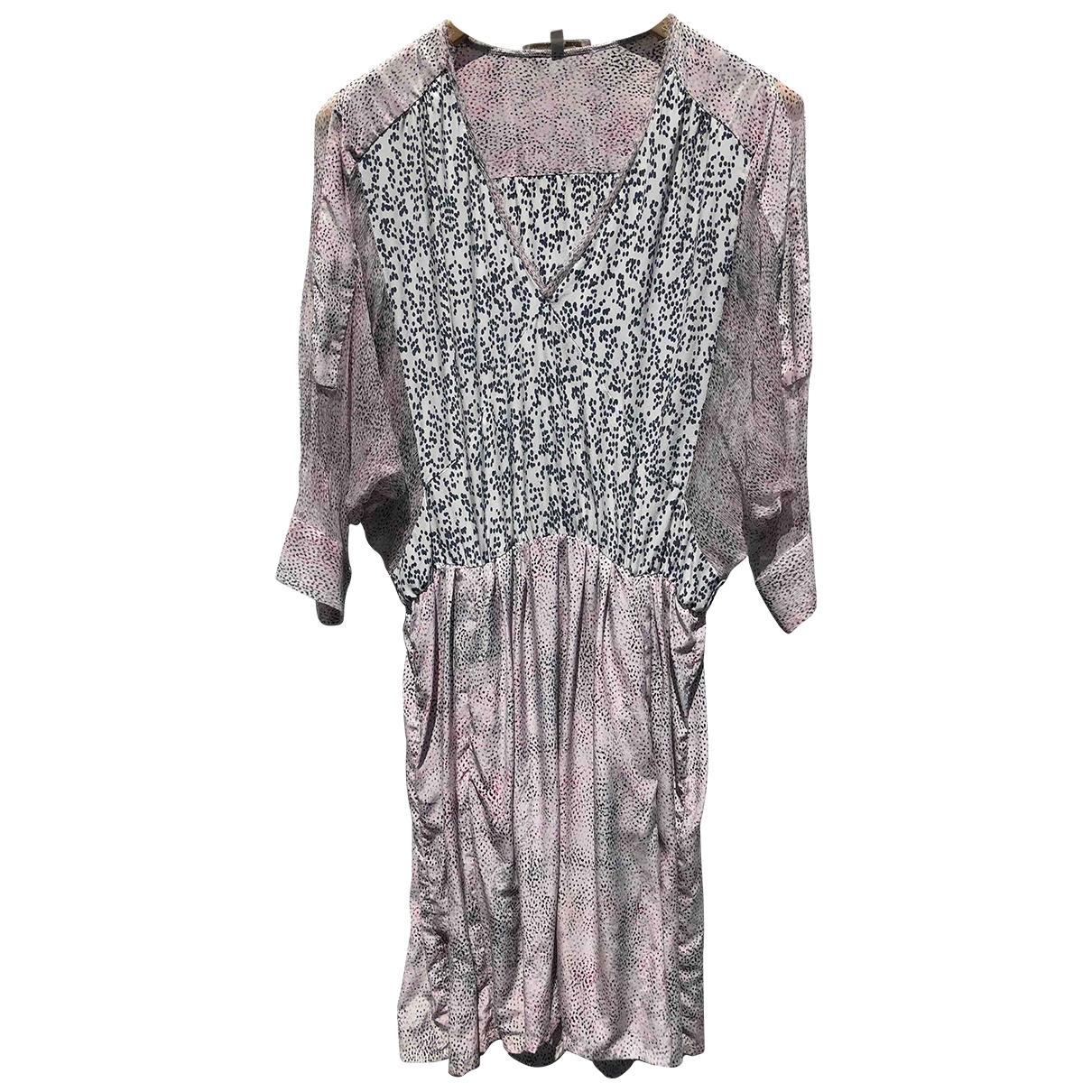 Maje - Robe   pour femme en soie - ecru