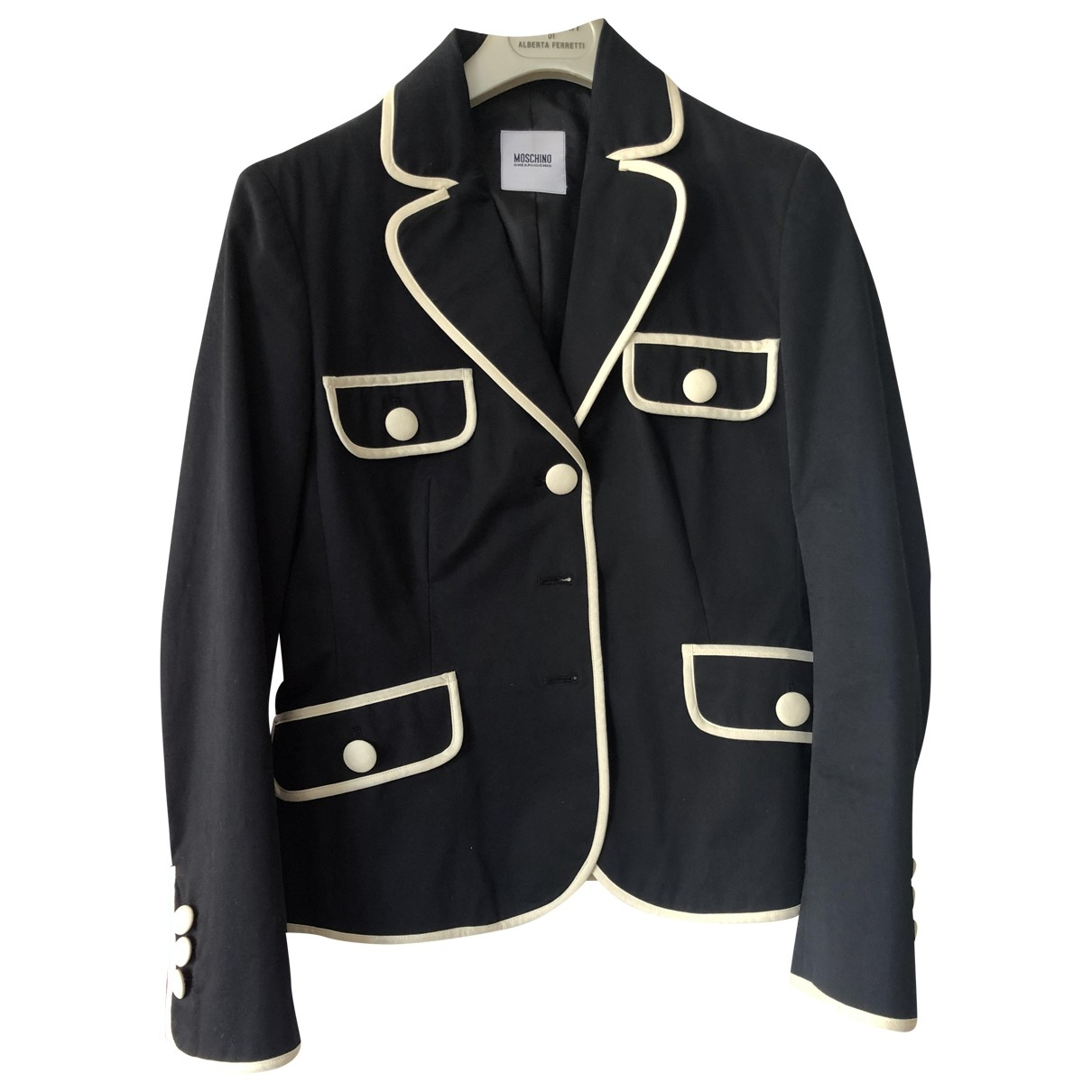 Moschino Cheap And Chic - Veste   pour femme en coton - noir