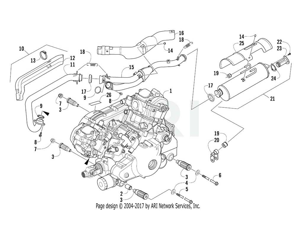 Arctic Cat OEM 0800-089 Engine A950I H2 Assembly (Trv) | (Inc. 2 3)