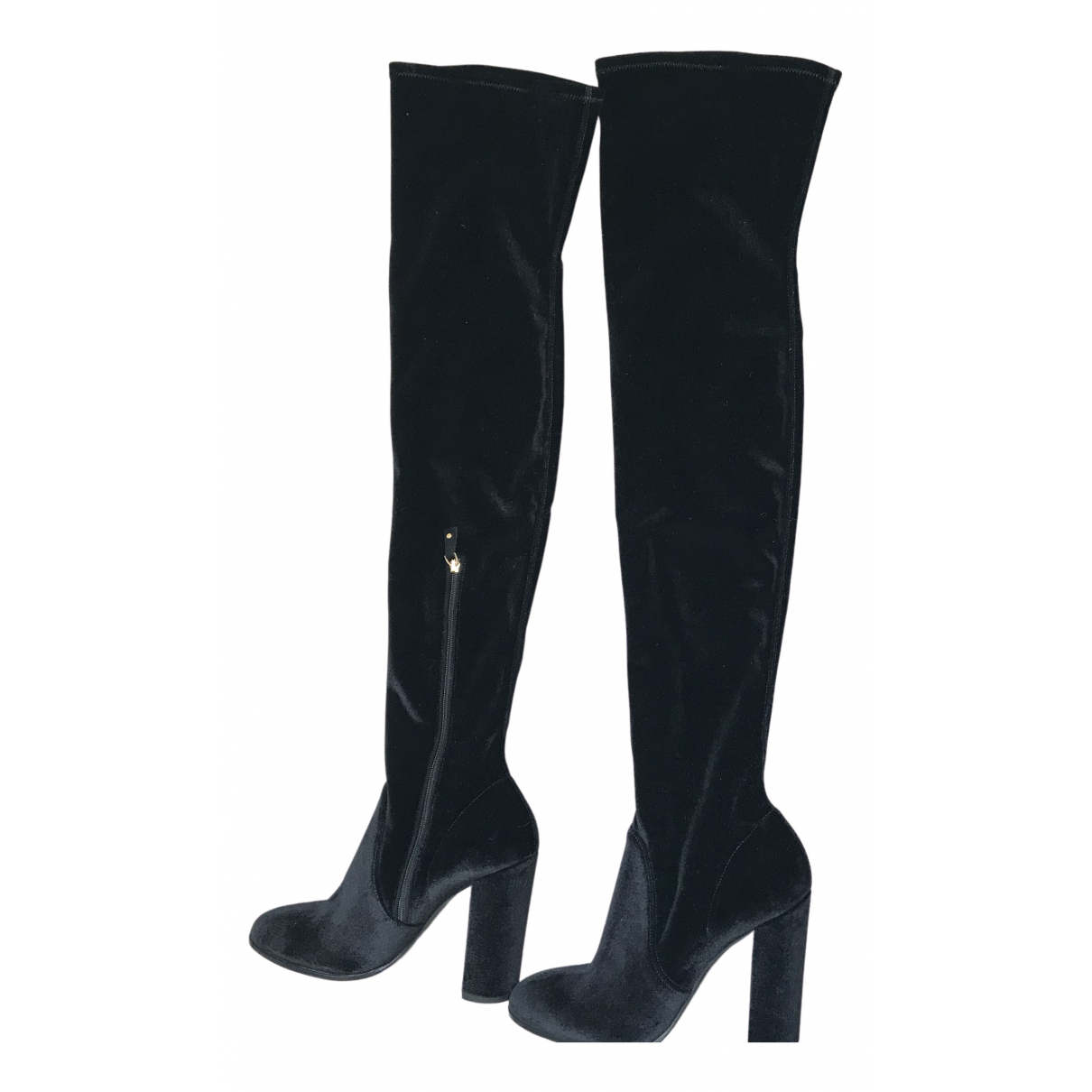 Ermanno Scervino \N Black Velvet Boots for Women 40 IT