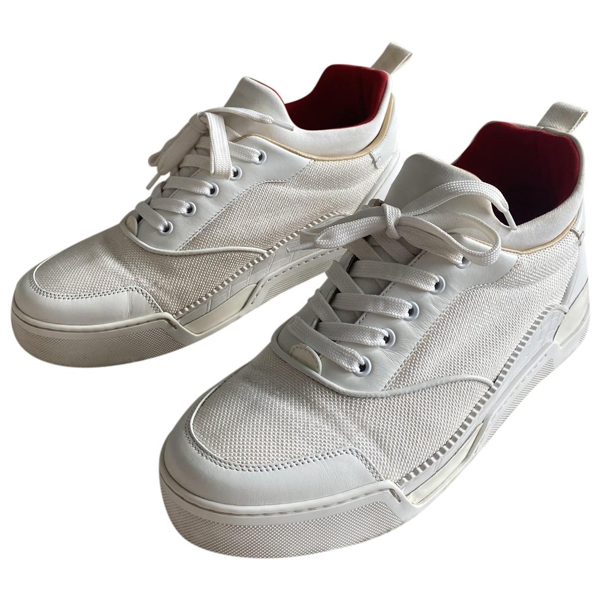 Christian Louboutin \N Sneakers in  Weiss Leinen
