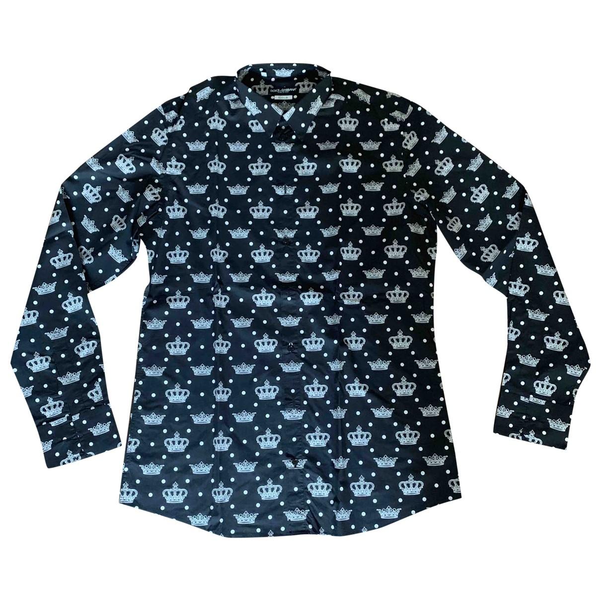 Dolce & Gabbana \N Hemden in  Schwarz Baumwolle