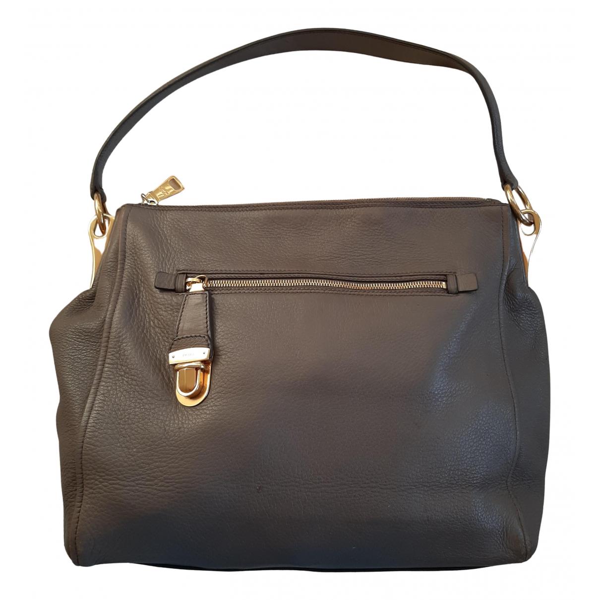 Prada N Khaki Leather handbag for Women N