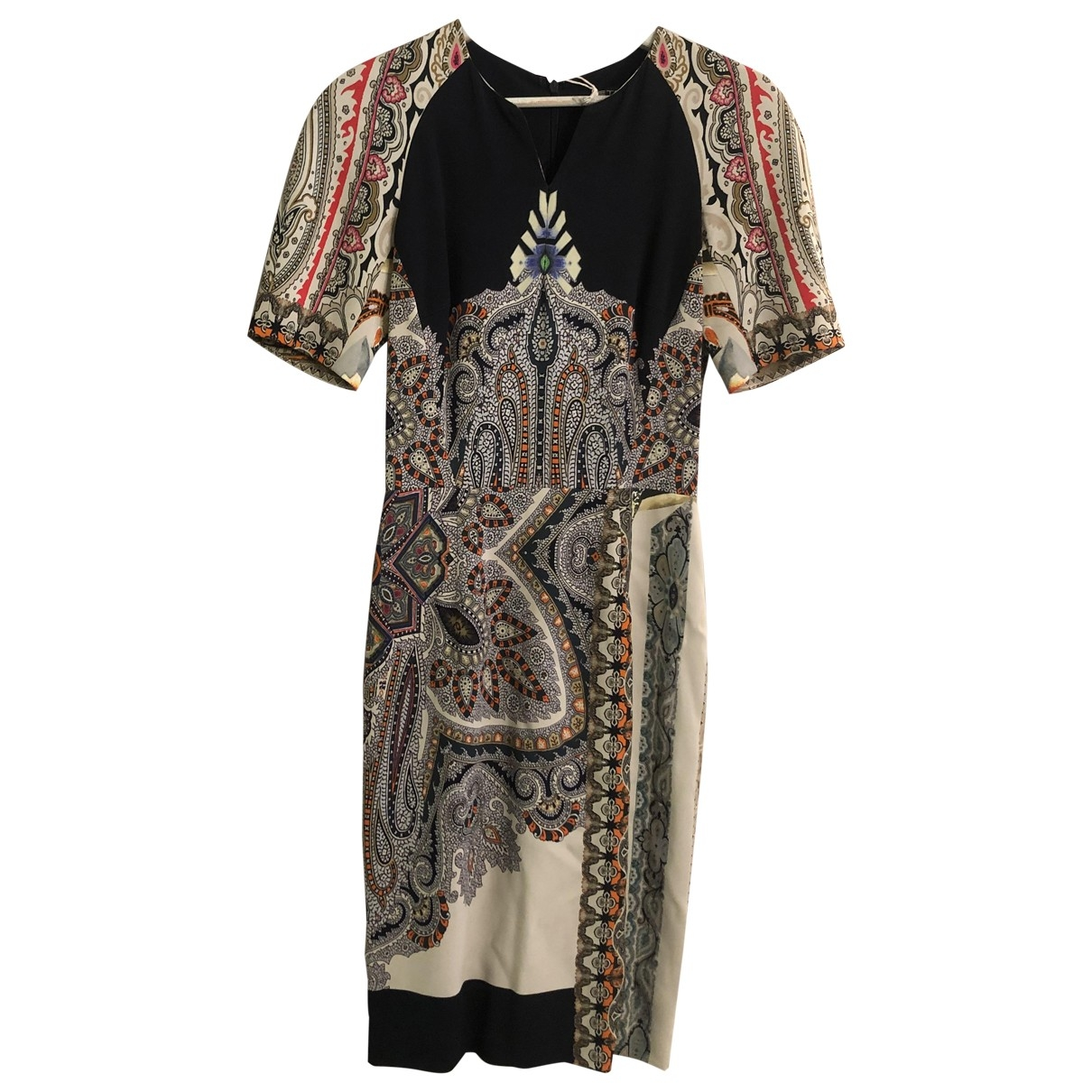 Etro \N Multicolour Leather dress for Women 38 IT