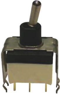 APEM SPST Toggle Switch, Latching, PCB