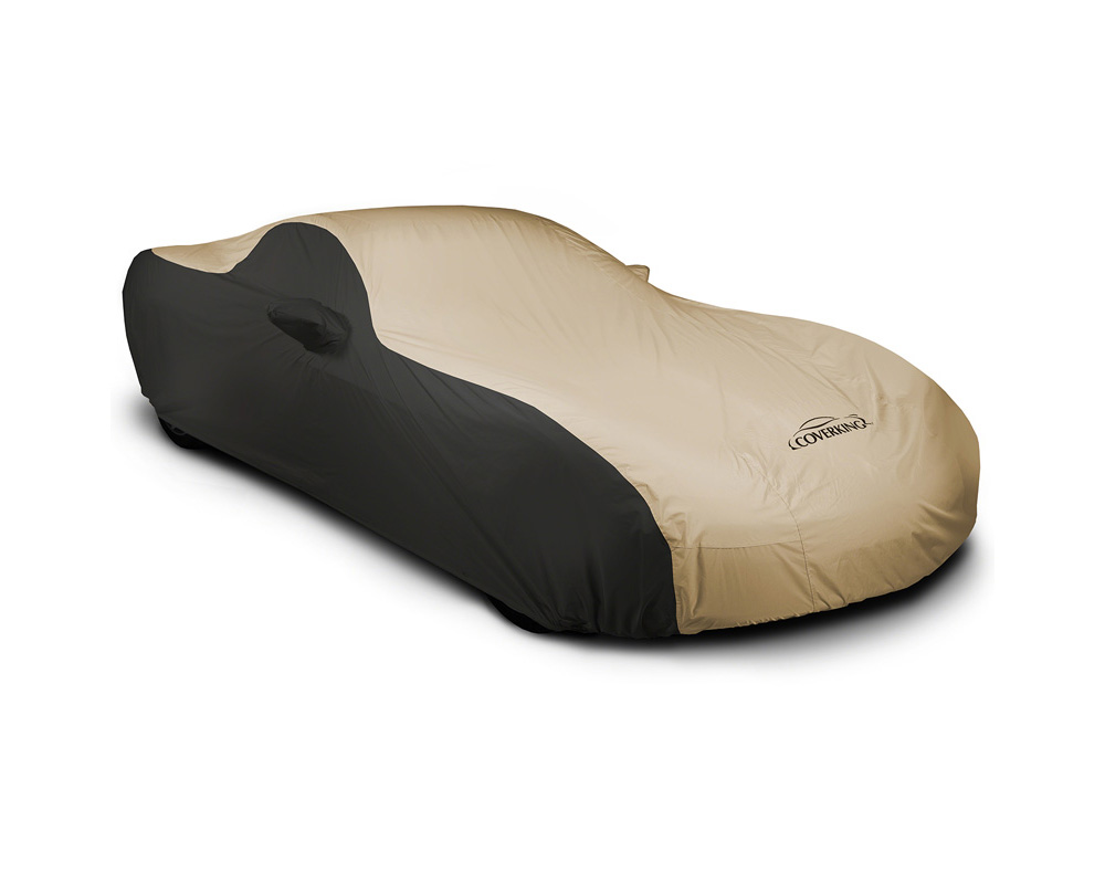 Coverking CVC3SP296DG9598 CVC3SP296 Stormproof 2-Tone Black Sides Tan Center Custom Car Cover Dodge Challenger 15-19