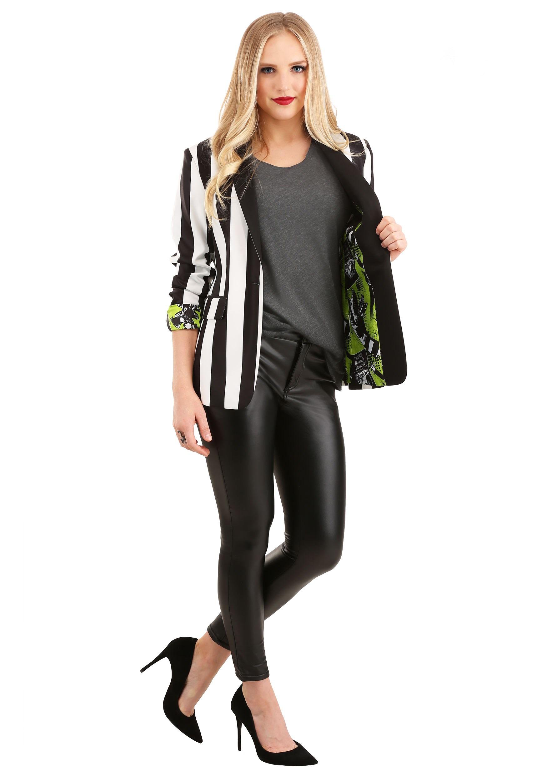 Beetlejuice Suit Blazer for Women | Halloween Clothing