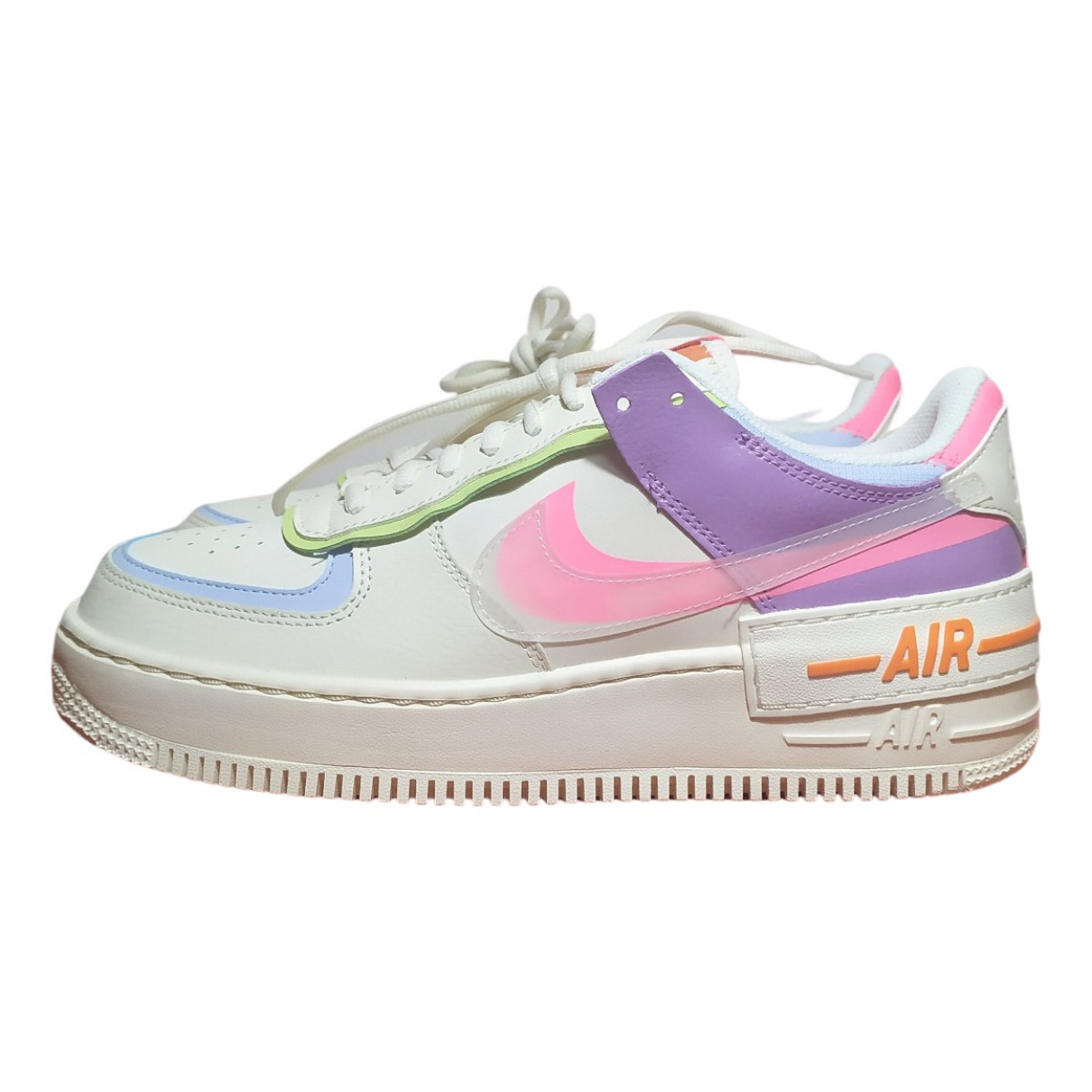 Nike Air Force 1 White Leather Trainers for Women 11 US