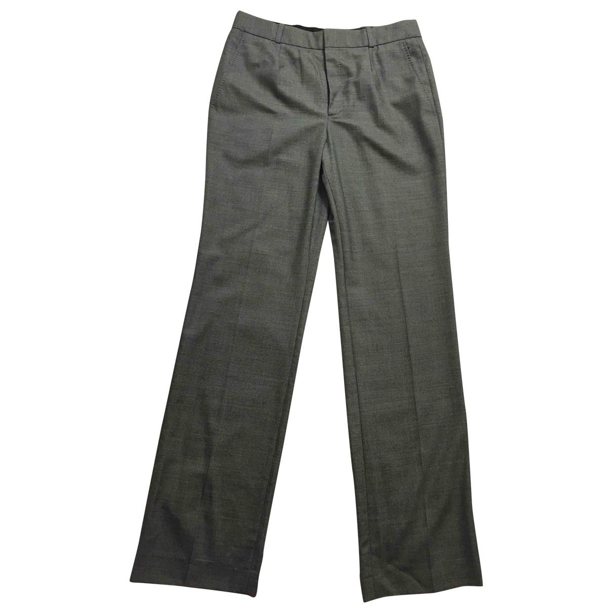 Balenciaga \N Grey Wool Trousers for Women 40 FR