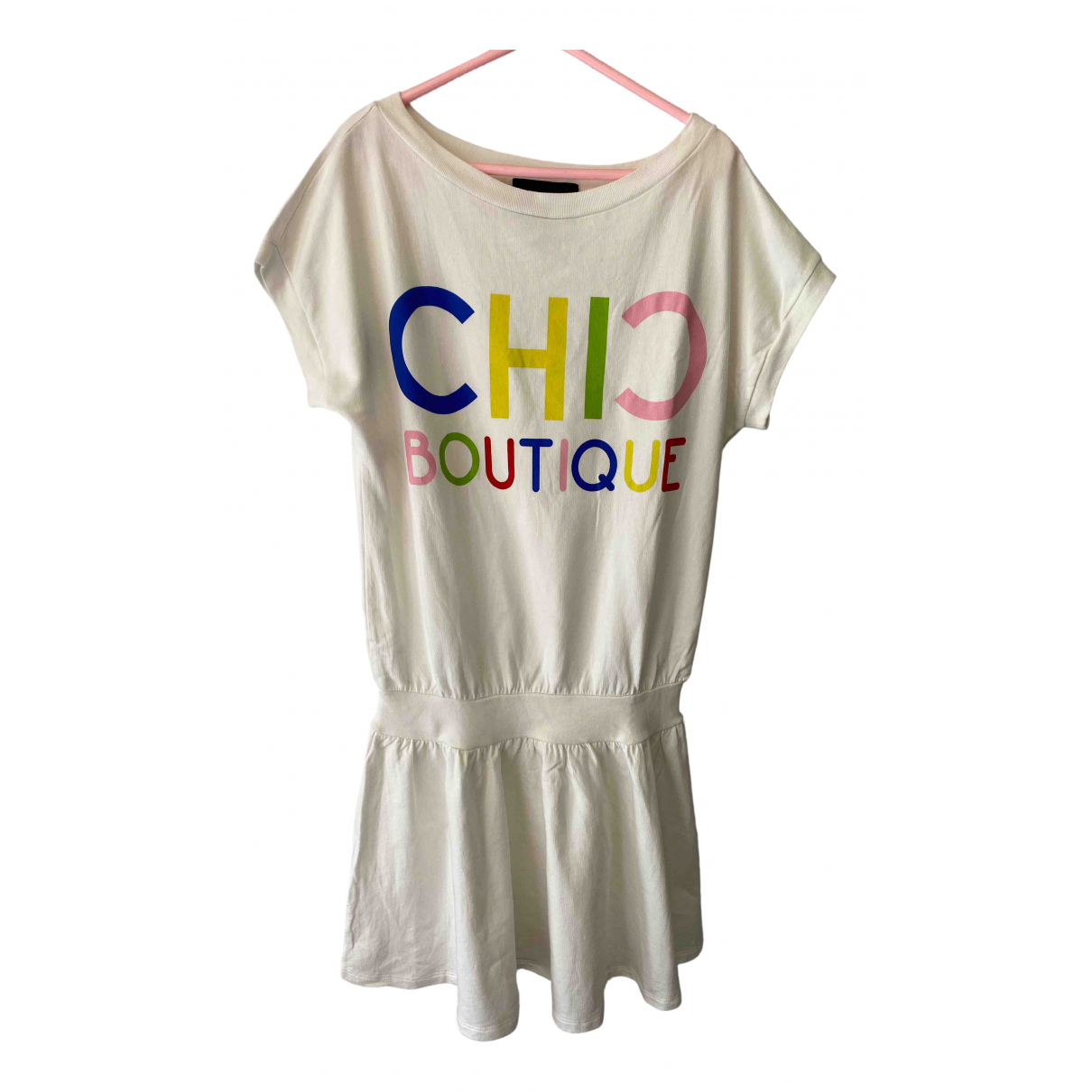 Moschino \N White Cotton dress for Women 36 FR