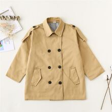 Toddler Girls Double Breasted Trench Coat