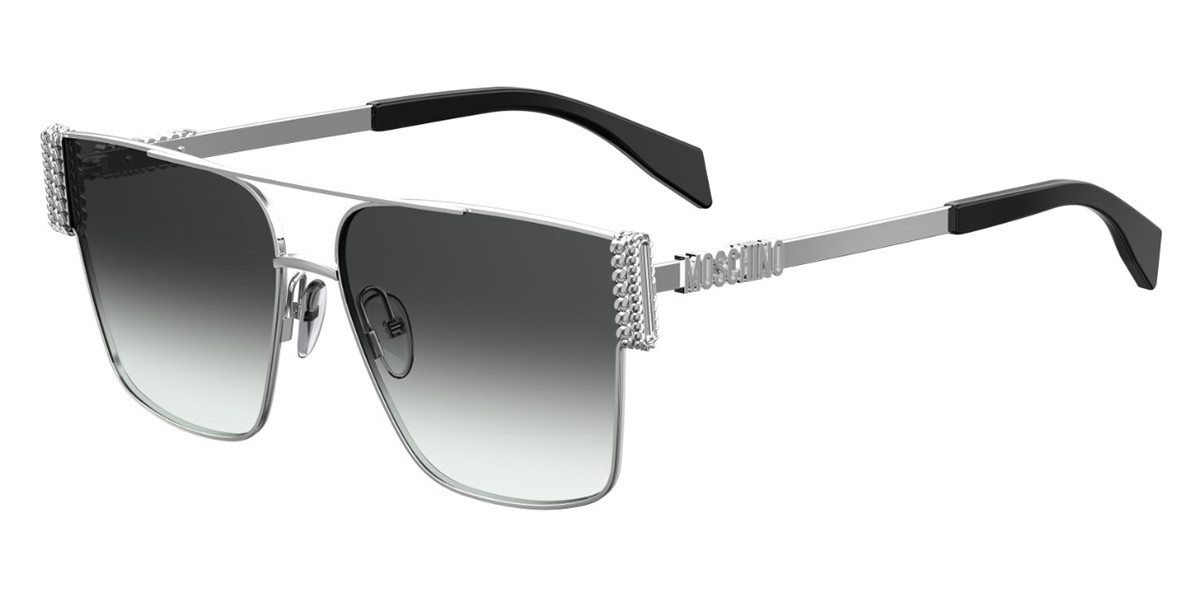 Moschino MOS024/S 010/9O Women's Sunglasses Silver Size 60
