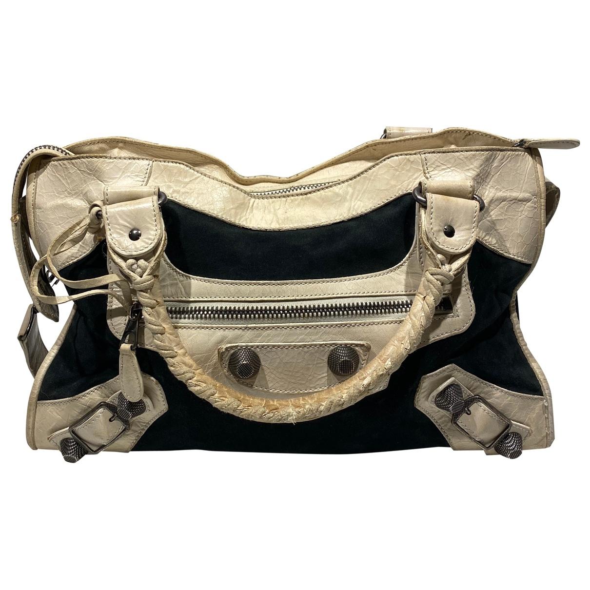 Balenciaga City Navy Suede handbag for Women \N