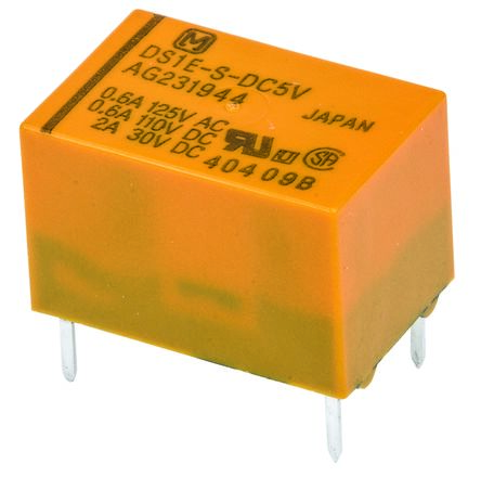 Panasonic , 5V dc Coil Non-Latching Relay SPDT, 3A Switching Current PCB Mount