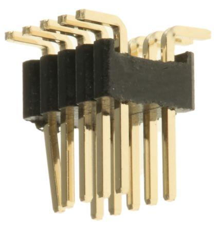 HARWIN , Archer M52, 10 Way, 2 Row, Straight PCB Header (5)
