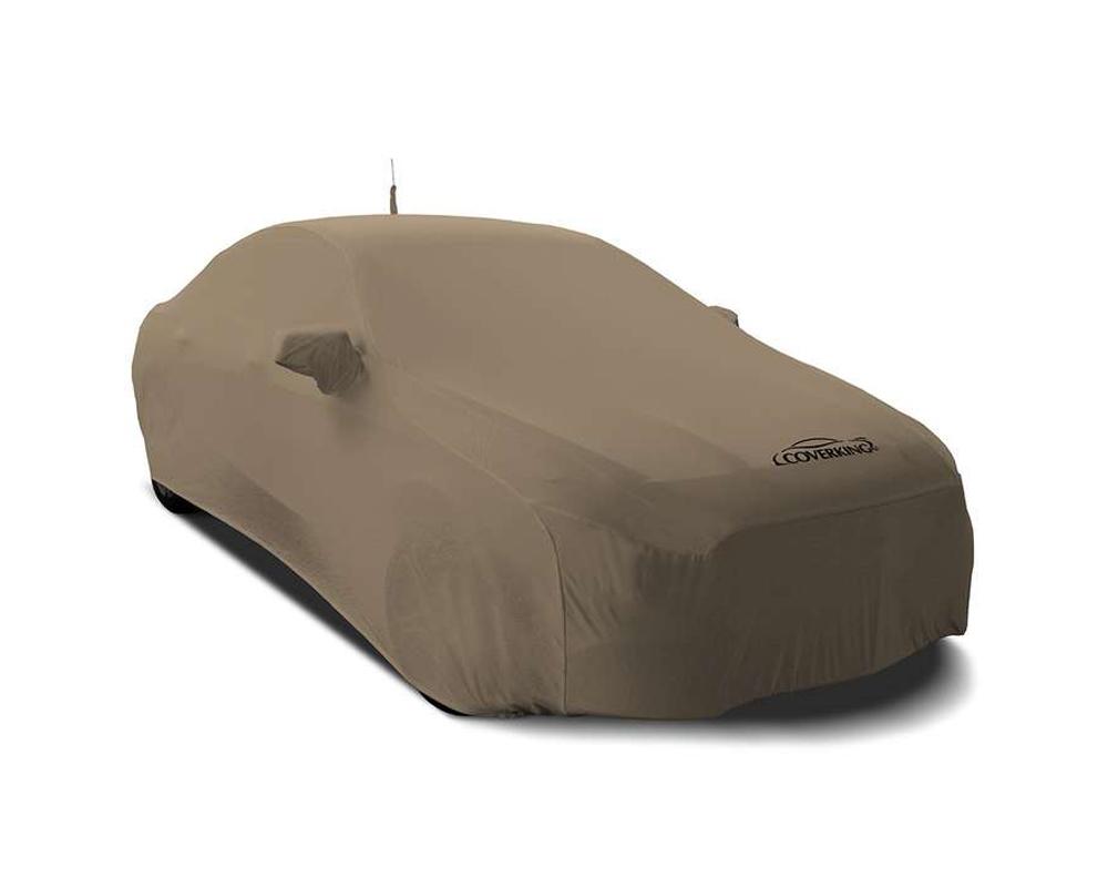 Coverking CVC3SS87CH9615 CVC3SS87 Coverking CVC3SS87CH9615 Satin Stretch Sahara Tan Class 3 Custom Car Cover Chevrolet Corvette 2014-2021