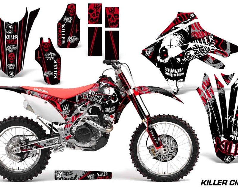 AMR Racing Dirt Bike Graphics Decal Sticker Wrap For Honda CRF450R | CRF450RX 2017+áCIRCUS RED
