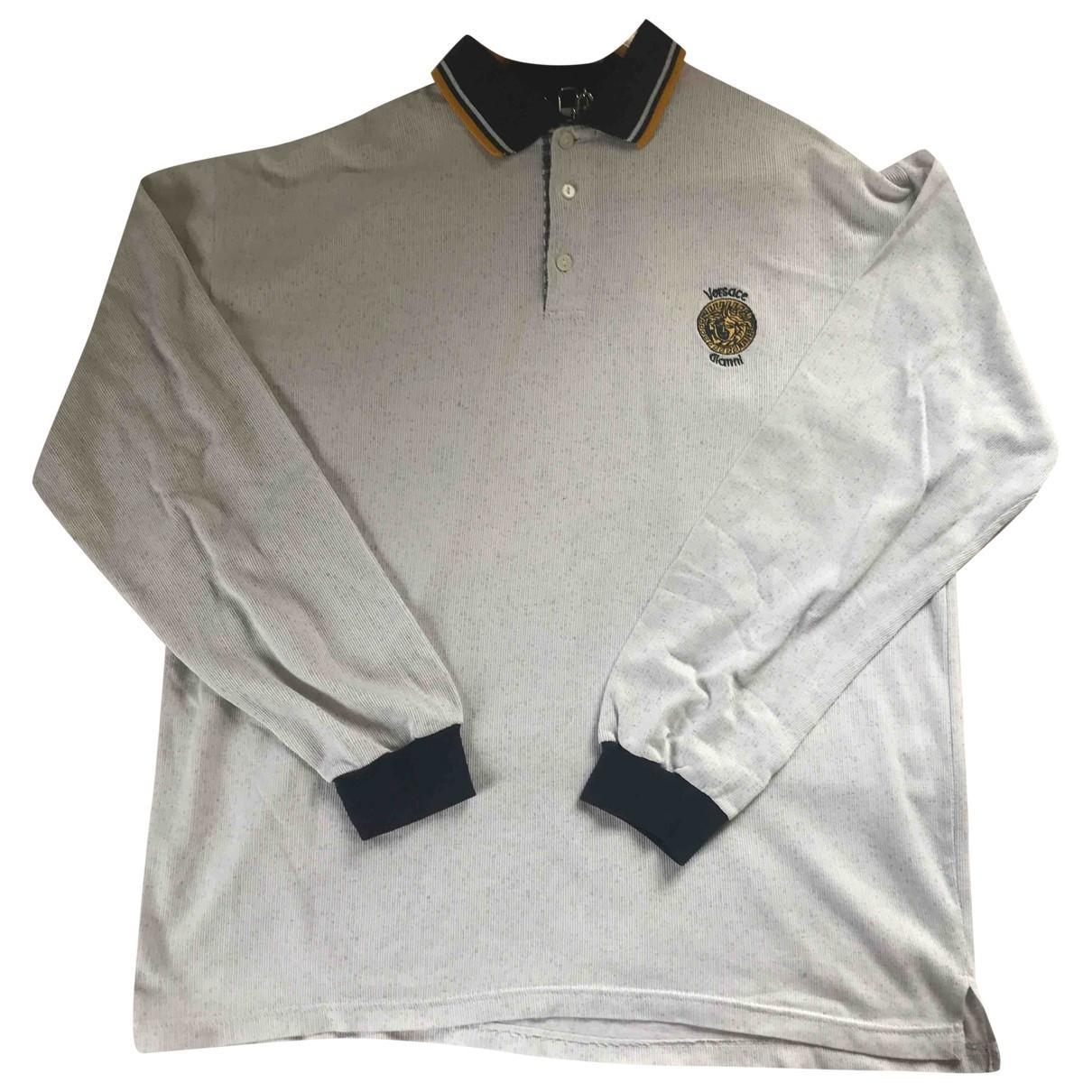 Polo en Algodon Gris Versace Jeans
