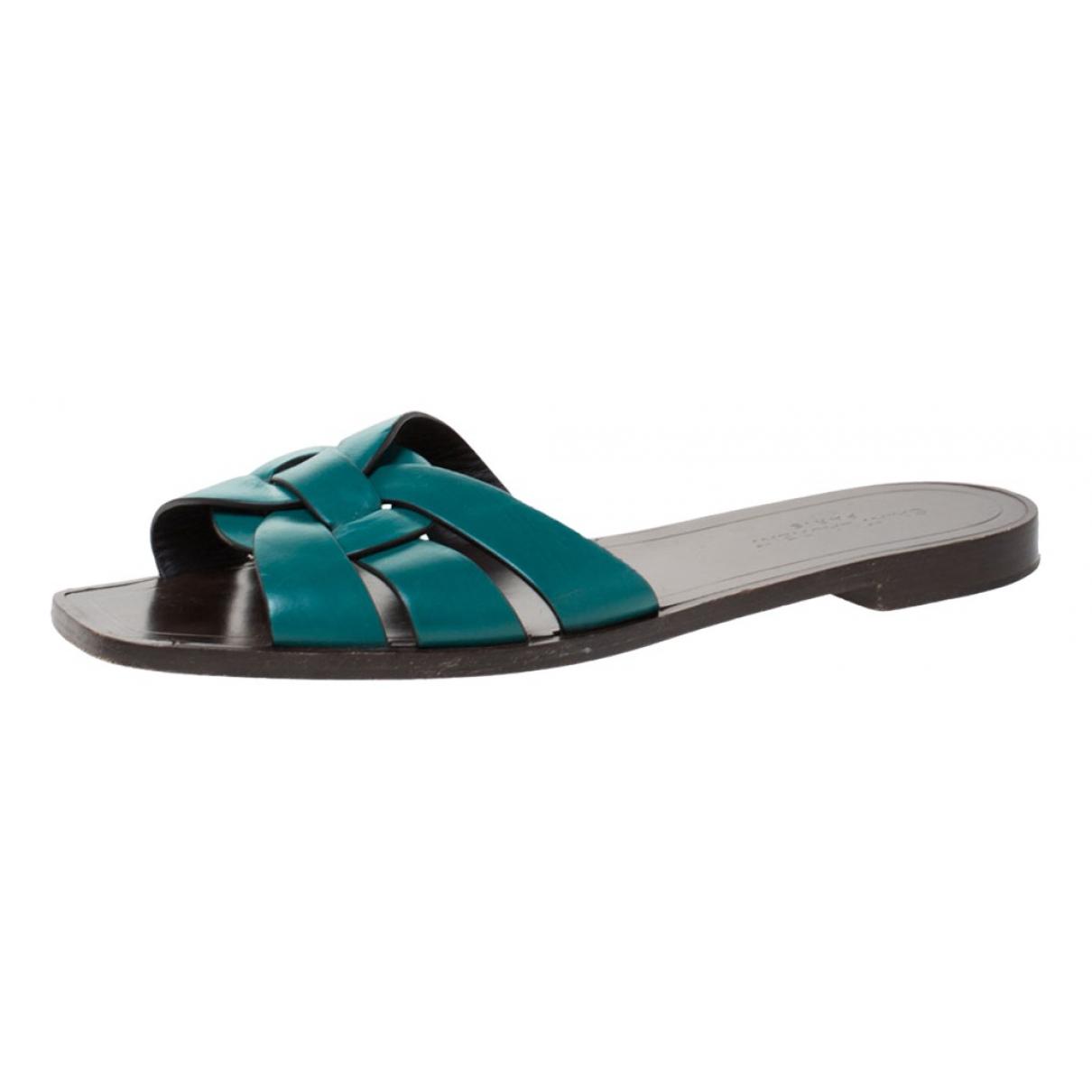 Saint Laurent \N Sandalen in  Gruen Leder