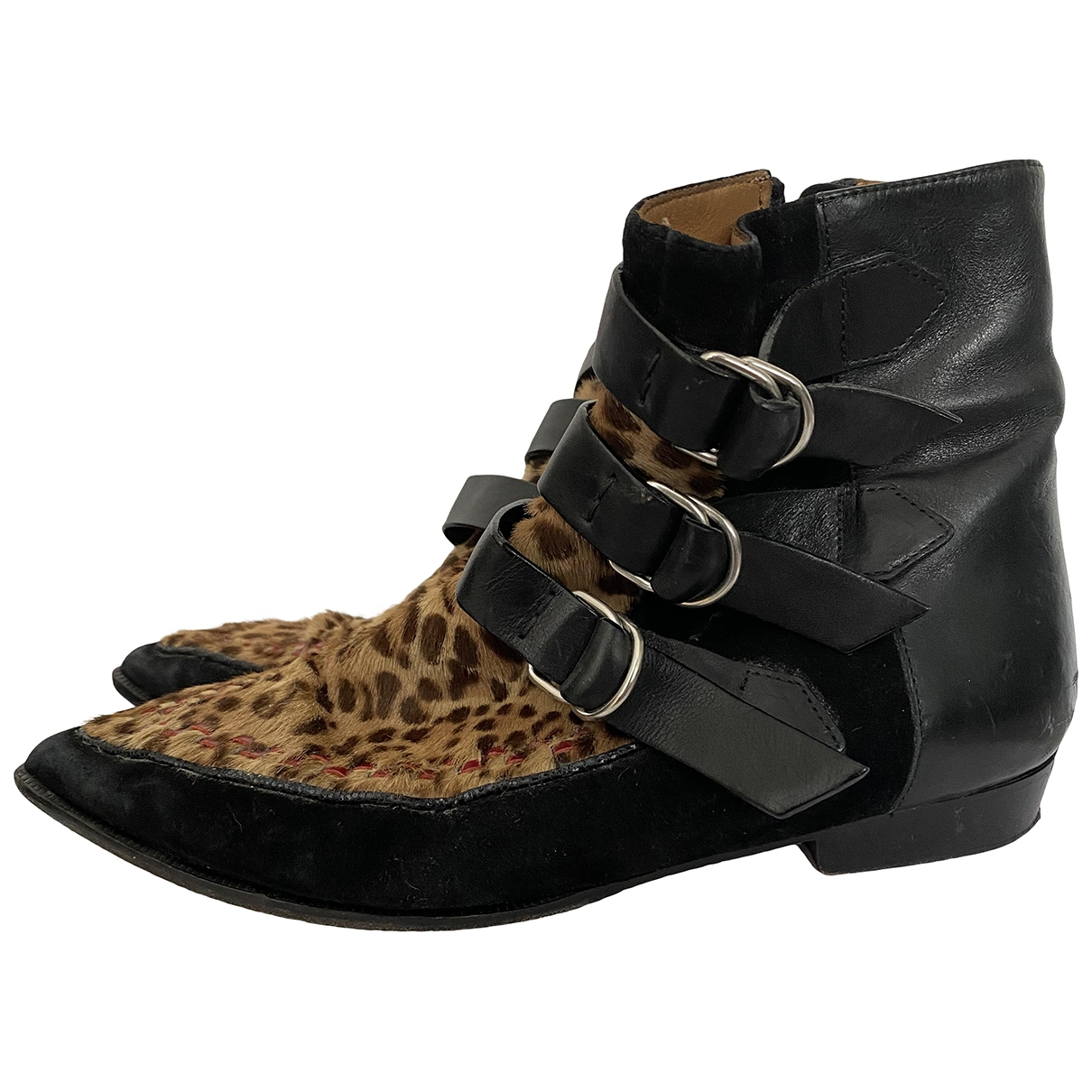 Isabel Marant - Boots Rolling pour femme en veau facon poulain - noir